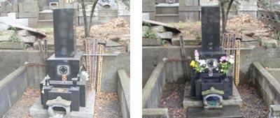 お墓のお掃除とお墓参り代行の作業風景