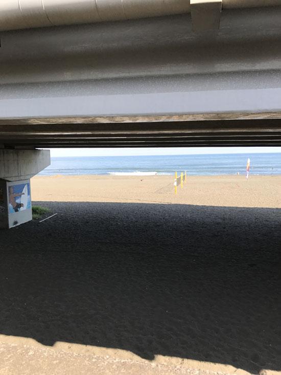 大磯海岸で波乗り